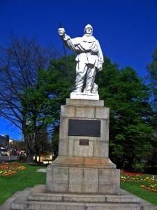 Памятник Роберту Скотту в Новой Зеландии