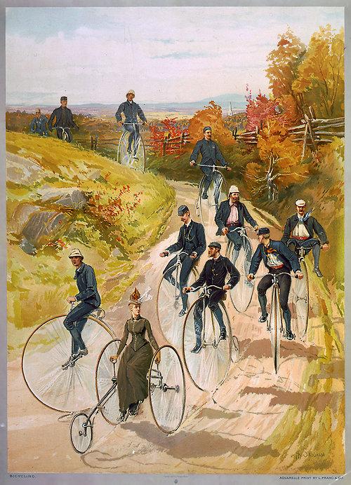 Первые велосипеды. Бегунки.
