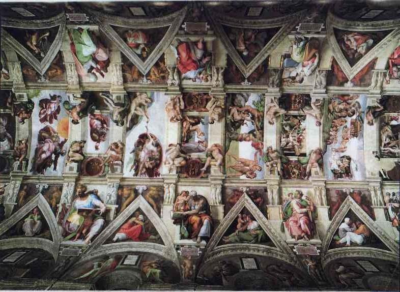 Свод Сикстинской капеллы, Микеланджело
