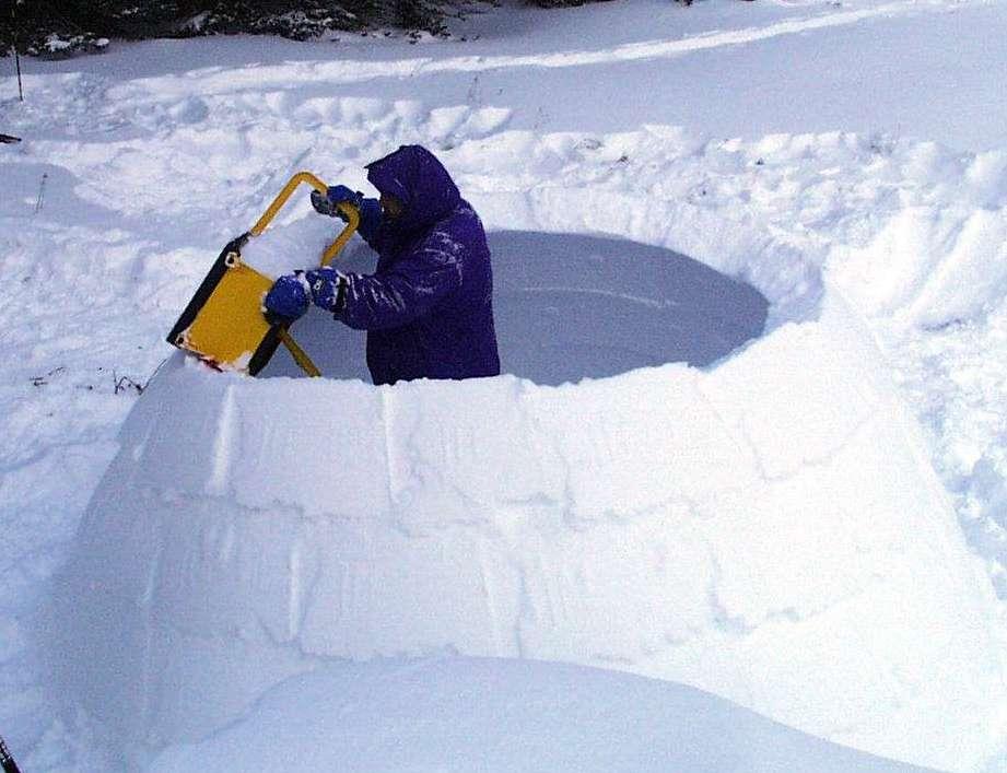 Игла из снега своими руками