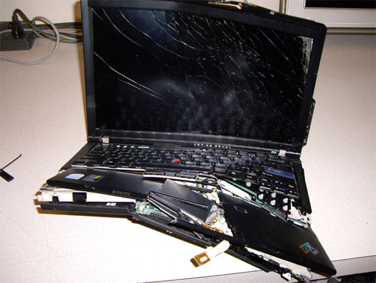 Разбитый компьютер