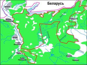 Карта Полесского заповедника