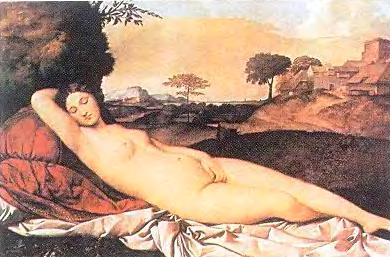 """Джорджоне. """"Спящая Венера"""""""