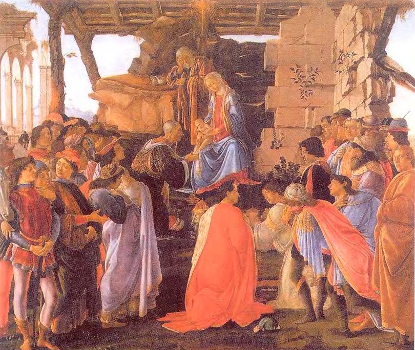 Поклонение волхвов. Боттичелли