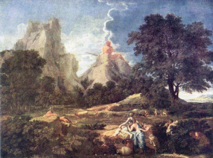 пуссен пейзаж с полифемом