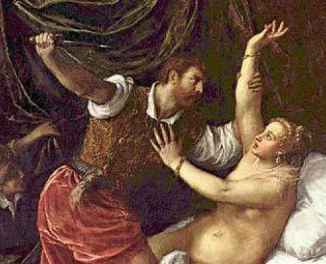 """Тициан """"Тарквиний и Лукреция"""""""