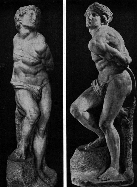 скованный пленник микеланджело