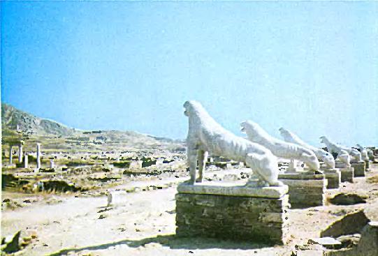 Мраморные львы
