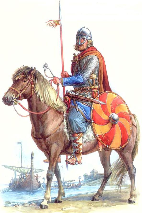 Варяжский конный воин
