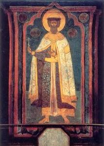 Александр Невский. Фреска из Архангельского собора Московского Кремля