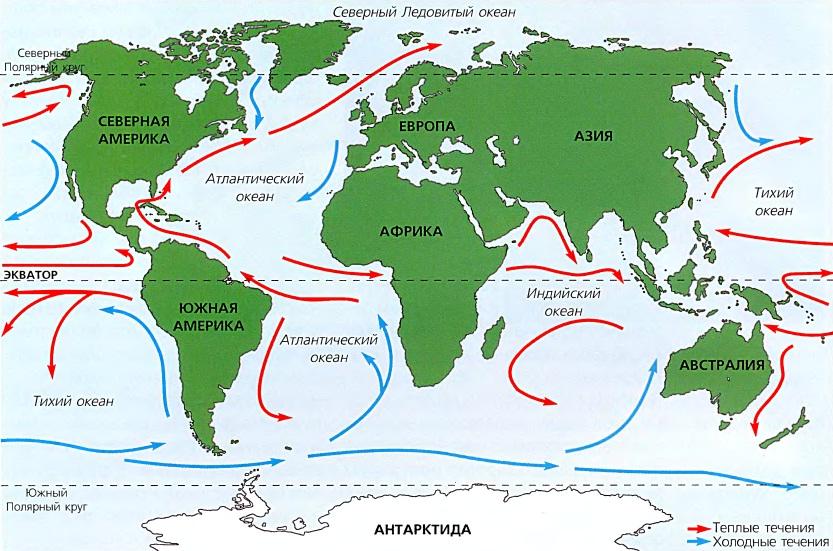 Карта течений.