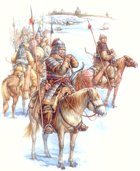 Монголо-татарские воины