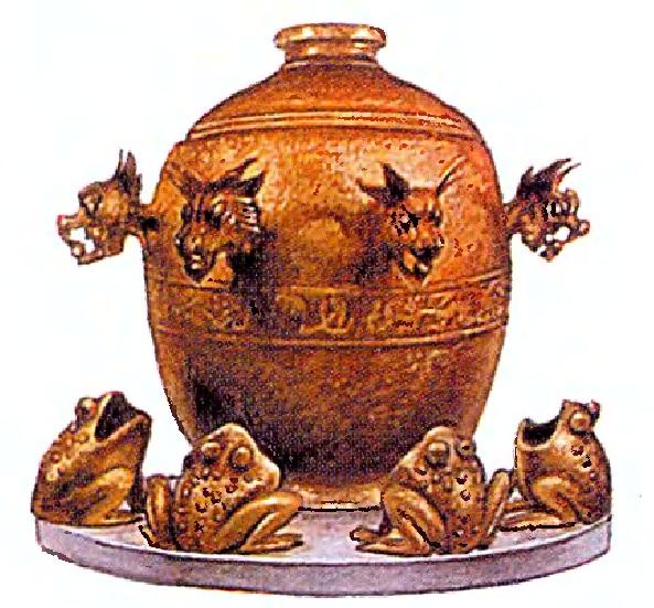 Старинный китайский сейсмограф