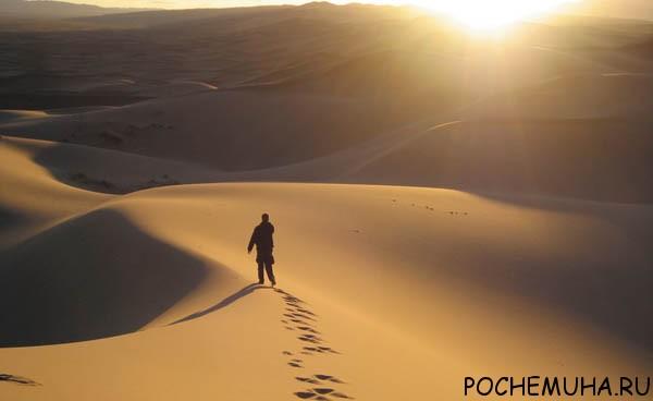 Человек и пустыня