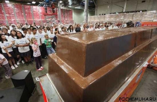 Какая плитка шоколада самая большая в мире?