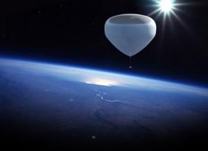 На воздушном шаре в космос