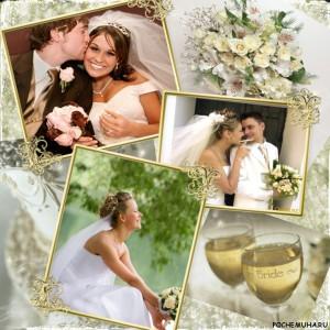 Как сделать коллаж из свадебных фотографий
