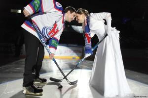 Оригинальная свадьба на льду